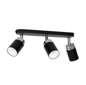 Luminex Bodové svítidlo RENO 3xGU10/60W/230V černá/chrom