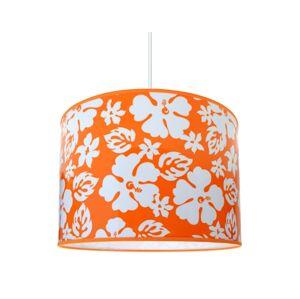 Lampdar Dětský lustr FLOWERS 1xE27/60W/230V oranžová