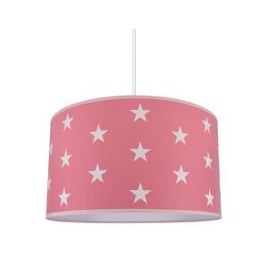 Lampdar Dětský lustr STARS PINK 1xE27/60W/230V
