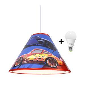 LED Lustr na lanku DISNEY CARS 1xE27/15W/230V
