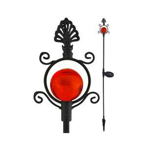 Polux LED Solární lampa LED/1,2V IP44 červená