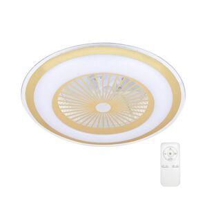 Milagro LED Stmívatelné stropní svítidlo s ventilátorem ZONDA LED/60W/230V zlatá + DO