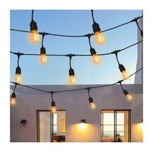 Polux LED Venkovní dekorační řetěz 5,6m 10xE27/6W/36V IP44