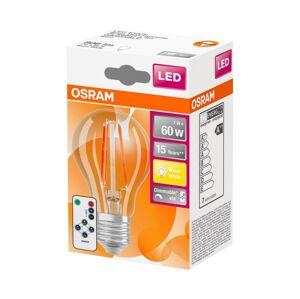 Osram LED Žárovka VINTAGE E27/7W/230V s dálkovým ovladačem 2700K