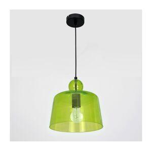 Luminex Lustr na lanku BELL 1xE27/60W/230V zelená