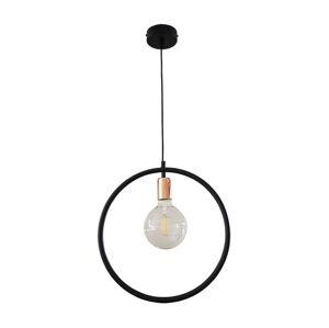 Belis Lustr na lanku CIRCLE L 1xE27/60W/230V černá/měděná