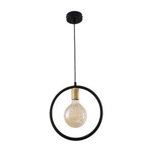 Belis Lustr na lanku CIRCLE M 1xE27/60W/230V černá/patinová