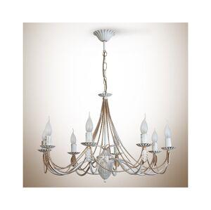Light4home Lustr na řetězu VANESSA 8xE14/40W/230V světlý