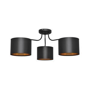 Helam Lustr přisazený ALBA 3xE27/60W/230V černá/zlatá