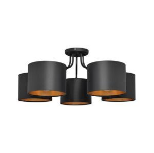 Helam Lustr přisazený ALBA 5xE27/60W/230V černá/zlatá
