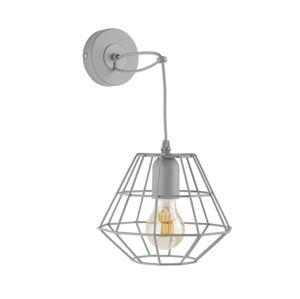 TK Lighting Nástěnné svítidlo DIAMOND 1xE27/60W/230V šedá
