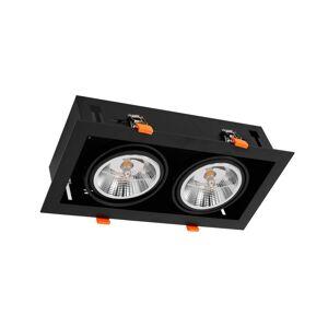 Milagro Podhledové svítidlo PLAZA AR111 2xGU10/12W/230V černá