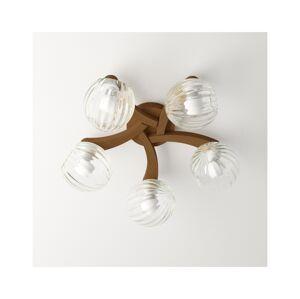 Light4home Přisazený lustr PLEIADA 5xE14/40W/230V světlé dřevo