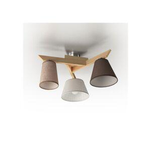 Light4home Přisazený lustr YOKE 3xE14/40W/230V přírodní dřevo