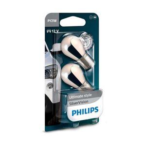 Philips SADA 2x Autožárovka Philips SILVER VISION 12496SVB2 PY21W BAU15s/21W/12V