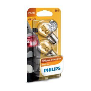 Philips SADA 2x Autožárovka Philips VISION 12594B2 BAZ15d/4W/12V
