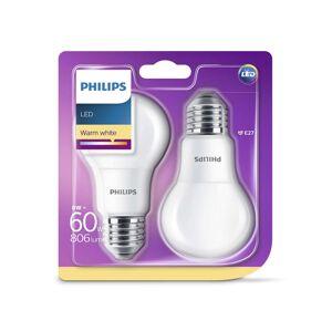 Philips SADA 2x LED žárovka Philips E27/8W/230V 2700K