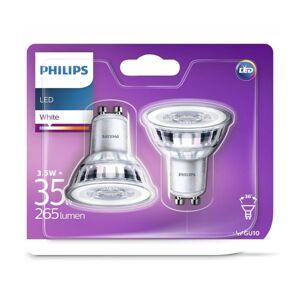 Philips SADA 2x LED Žárovka Philips GU10/3,5W/230V 3000K