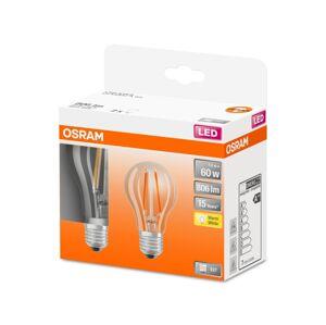 Osram SADA 2x LED Žárovka VINTAGE A60 E27/7W/230V 2700K