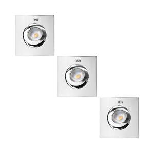Výrobce po 1 ks SADA 3x LED Koupelnové podhledové svítidlo 3xLED/5,5W/230V IP23
