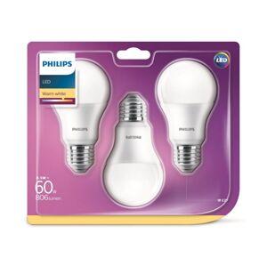 Philips SADA 3x LED Žárovka Philips A60 E27/8,5W/230V 2700K