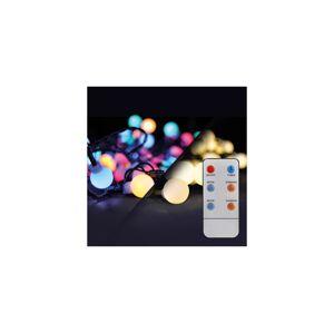 LED 2v1 venkovní vánoční řetěz, koule, dálkový ovladač