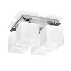 Sollux Stropní svítidlo PIAZZA 4 4xE27/60W/230V chrom/bílá