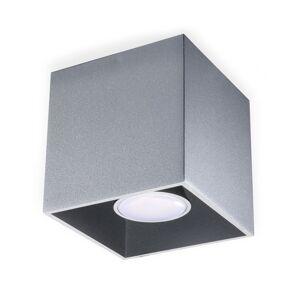 Sollux Stropní svítidlo QUAD 1 1xGU10/40W/230V šedá